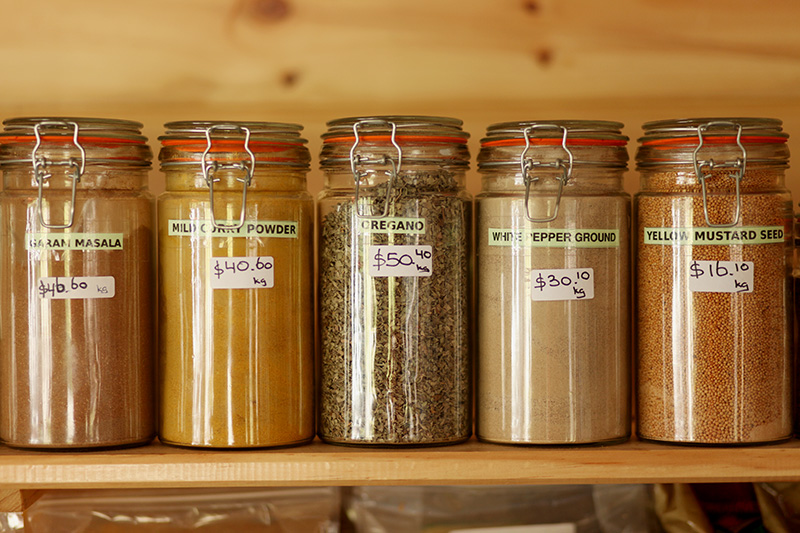 Spices at the Organic Shop at Tranquil Point