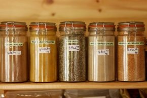 Organic herbs and spices at Tranquil Point